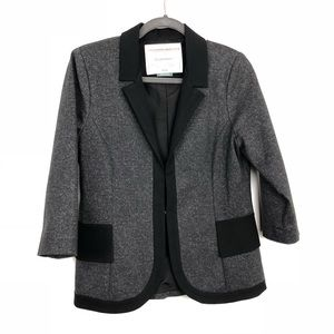 Anthropologie Cartonnier Gray Sweater Blazer